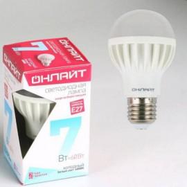 Лампа светодиодная ОНЛАЙТ  7 Вт Е-27