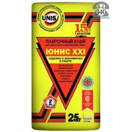 """Клей плиточный """"Юнис ХХI"""" 5 кг.(желт.)"""