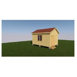 Дачный домик 3х4
