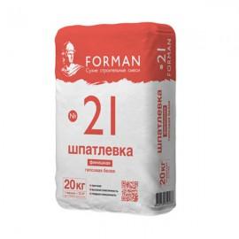 Форман №21 шпаклевка гипсовая финишная - 20кг