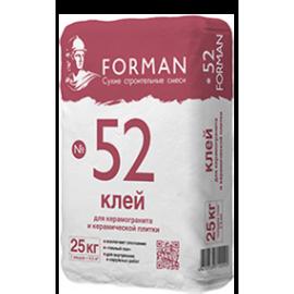 Форман №52 клей плиточный клей д/керамогранита  - 25кг