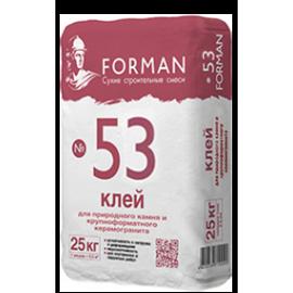 Форман №53 клей плиточный клей д/керамогр. влагостойкий  - 25кг