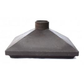 Колпак на кирпичную кладку полимерно-песчанные с фонарем 385х385 (гладкие)